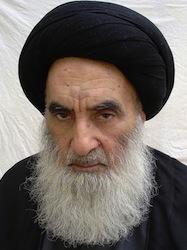 Ali Sistani. Bron wikimedia